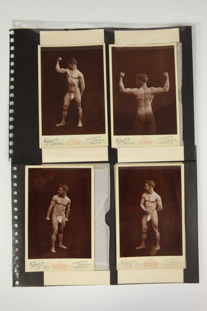SIX CABINET CARDS OF A NUDE MALE, GAY INTEREST, circa 1880's. - Each, 6.5 in. x 4.25 in.