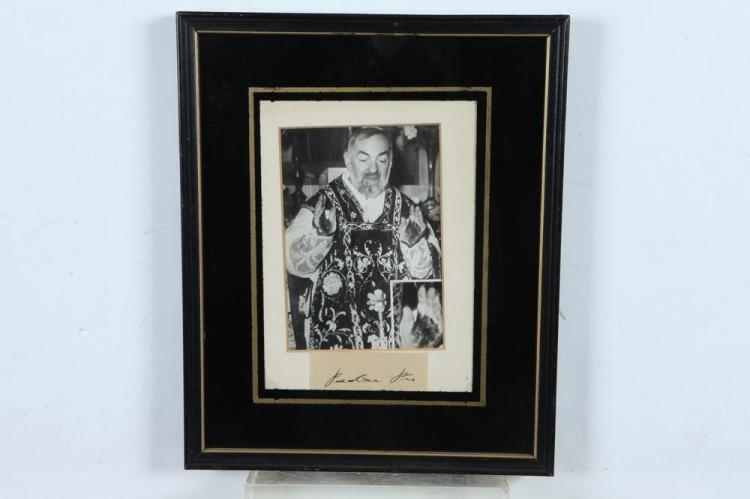 THREE AUTOGRAPH-SIGNED BLACK AND WHITE PHOTOGRAPHS OF RELIGIOUS NOTABLES,