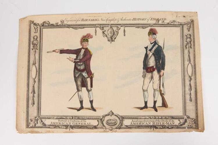 FIVE 18TH AND EARLY 19TH CENTURY GEORGE WASHINGTON AND REVOLUTIONARY WAR RELATED ENGRAVINGS,
