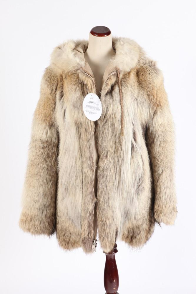 SOMPER FUR LYNX JACKET WITH HOOD, BY FUR COUTURE INTERNATIONAL BEVERLY HILLS, size medium.
