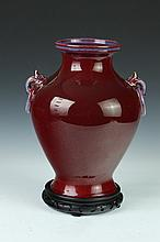 CHINESE FLAMBÉ PORCELAIN VASE. 20th Century. - 13 1/2 in. high.