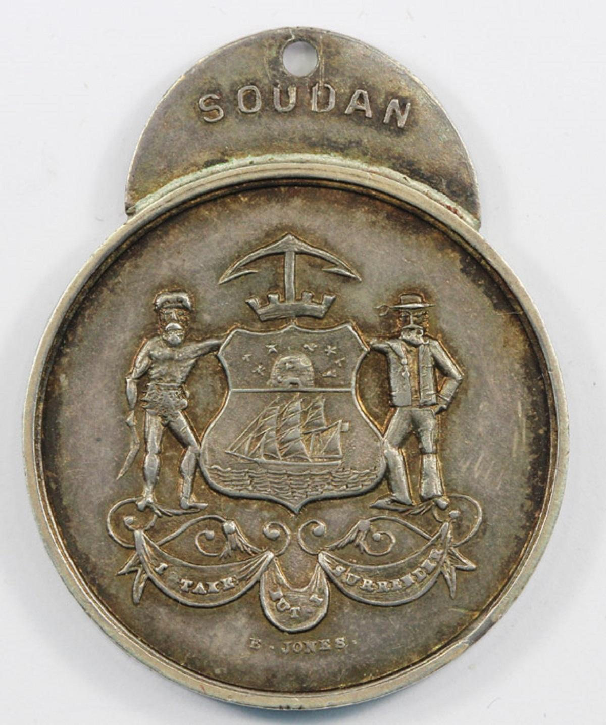 Australia. 1885 'Lord Mayor's Soudan Medal' presented by the Citizens of Sydney, about Uncirculated and unengraved