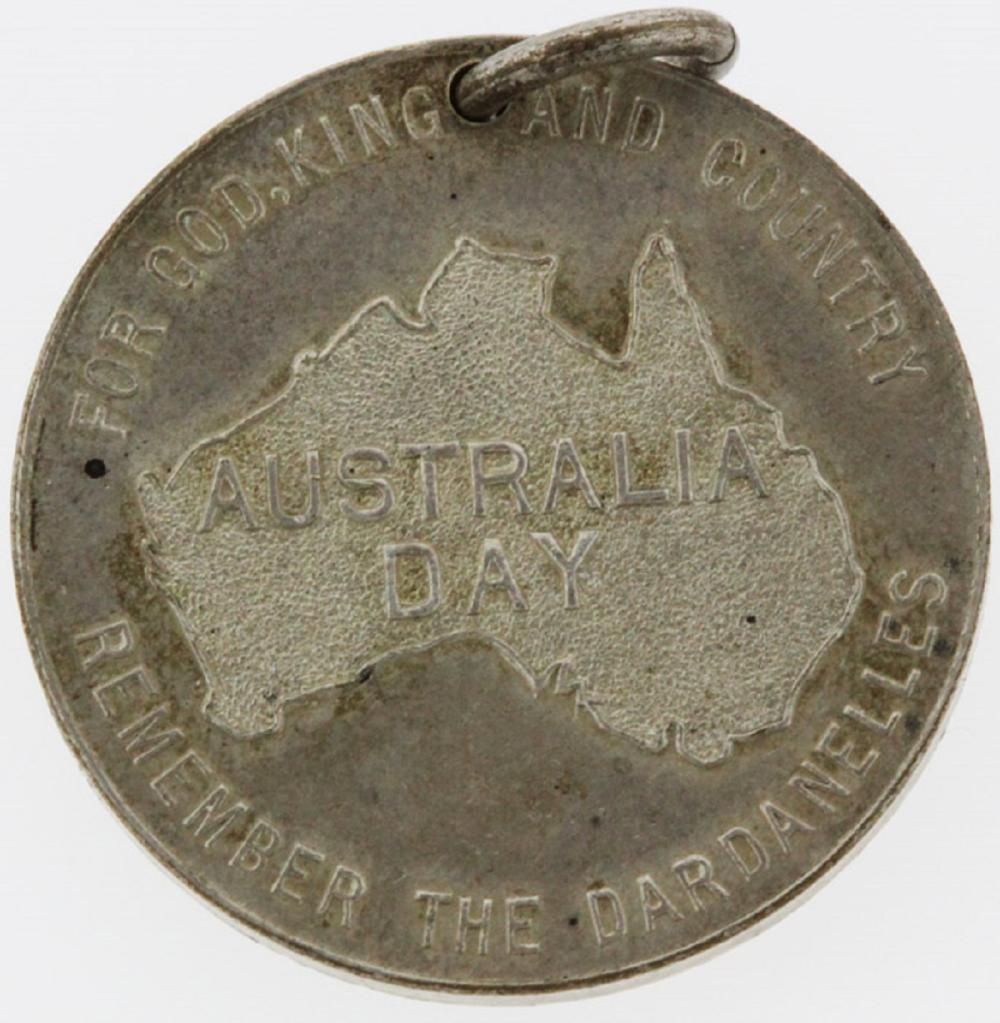 WWI Australia. Medalet issued to commemorate the first