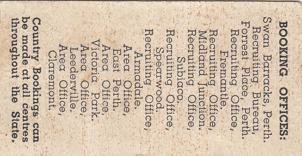 WWII Australia. 1941 Propaganda 'Fighting Class' Train Ticket - Australia to Berlin via Free World lines', good Very Fine