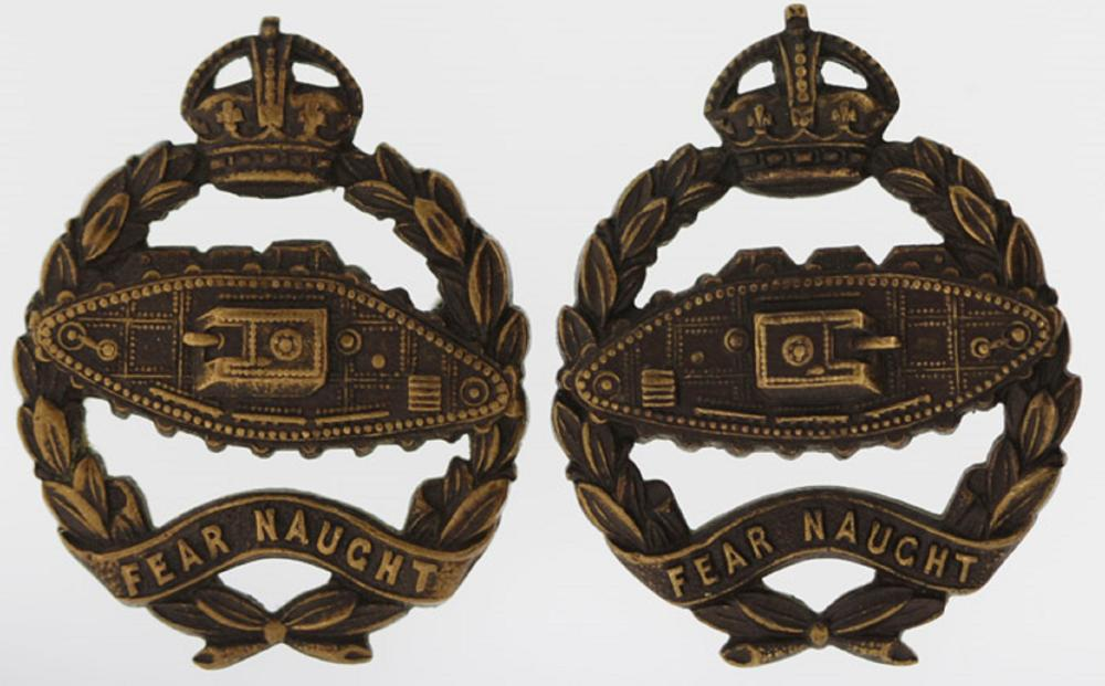 Britain. Royal Tank Regiment Badges, Extremely Fine (Left & right facing pair)