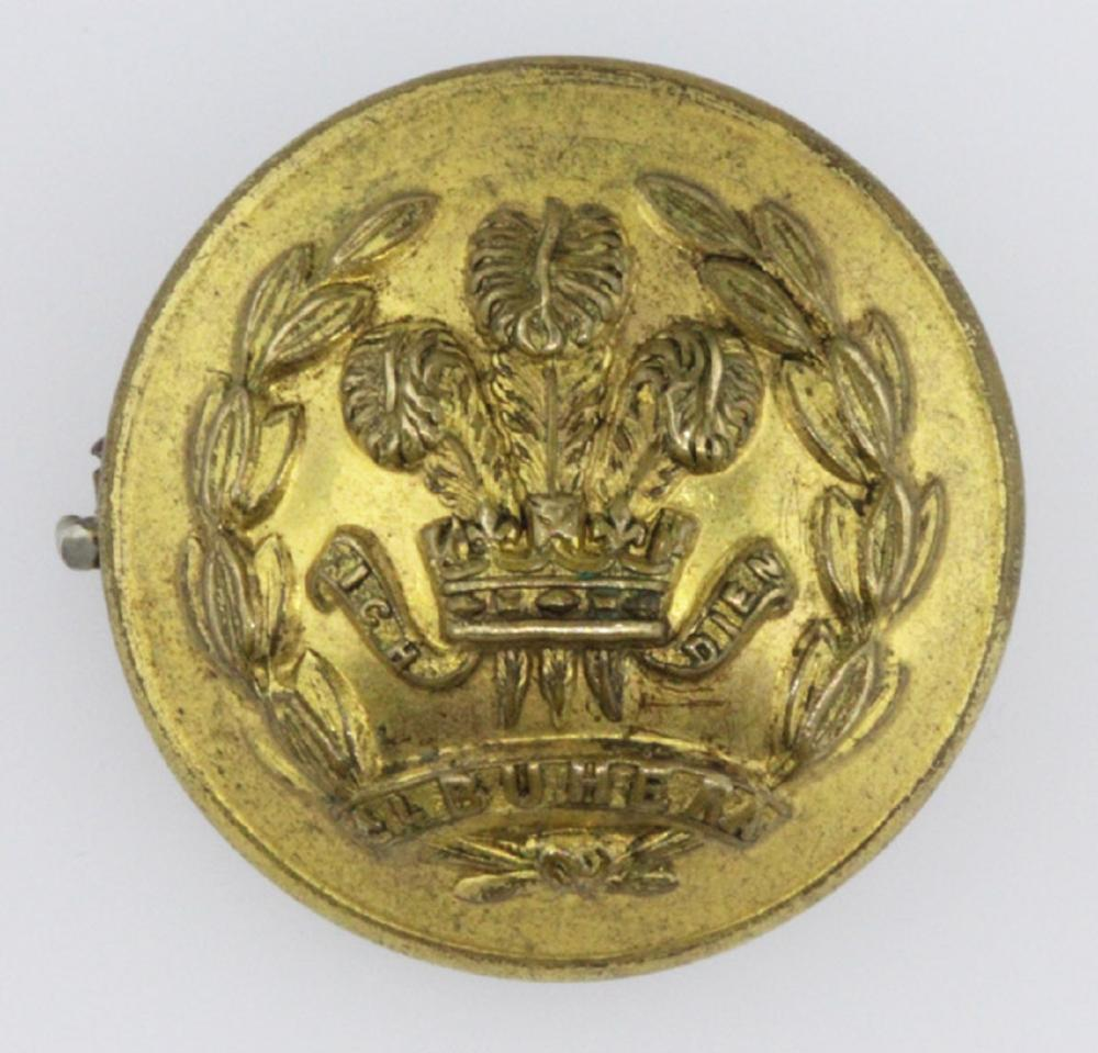 British Military. Royal Welsh Army Button converted into a badge