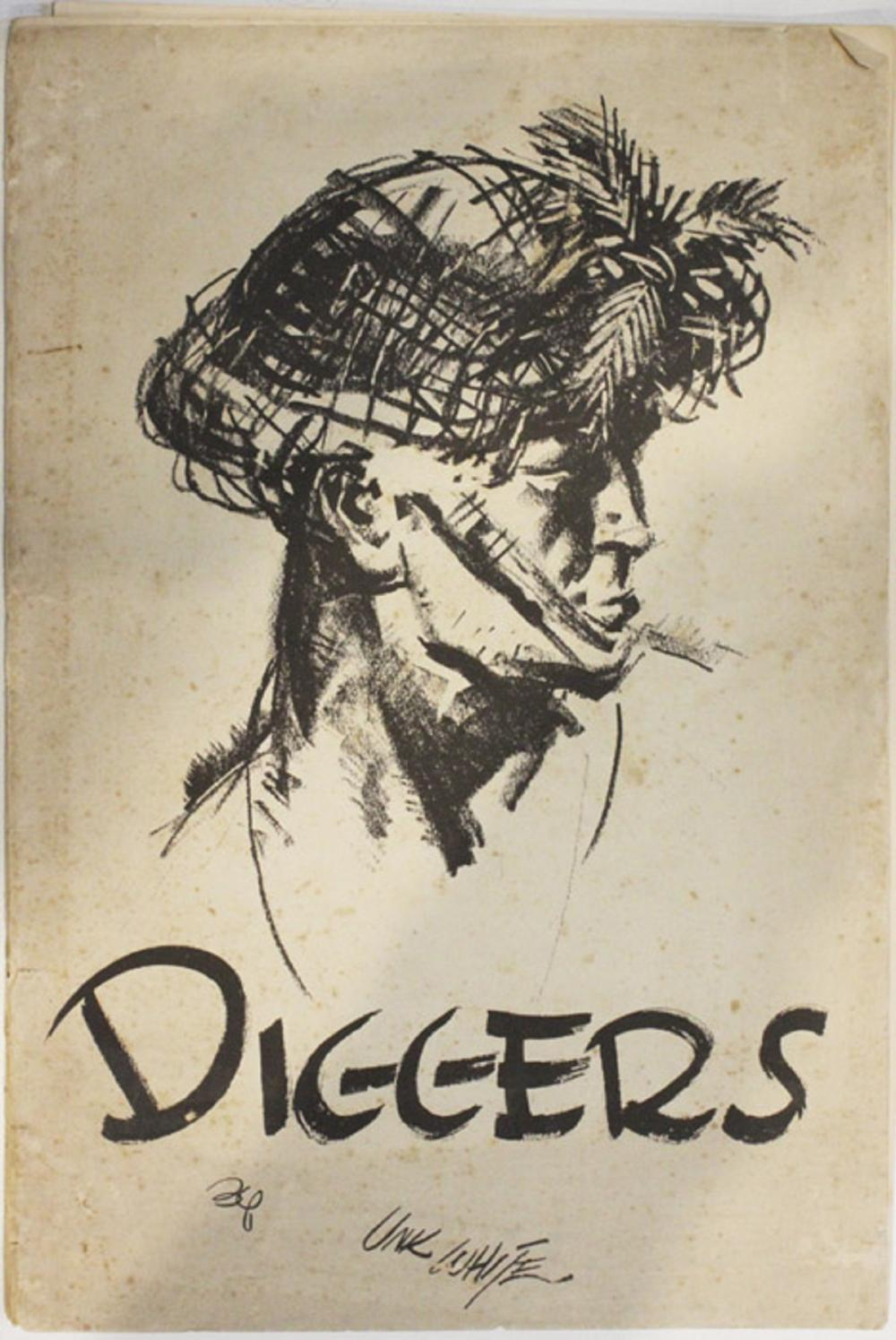 """WWII Australia. Publication """"Diggers"""" by Unk White"""