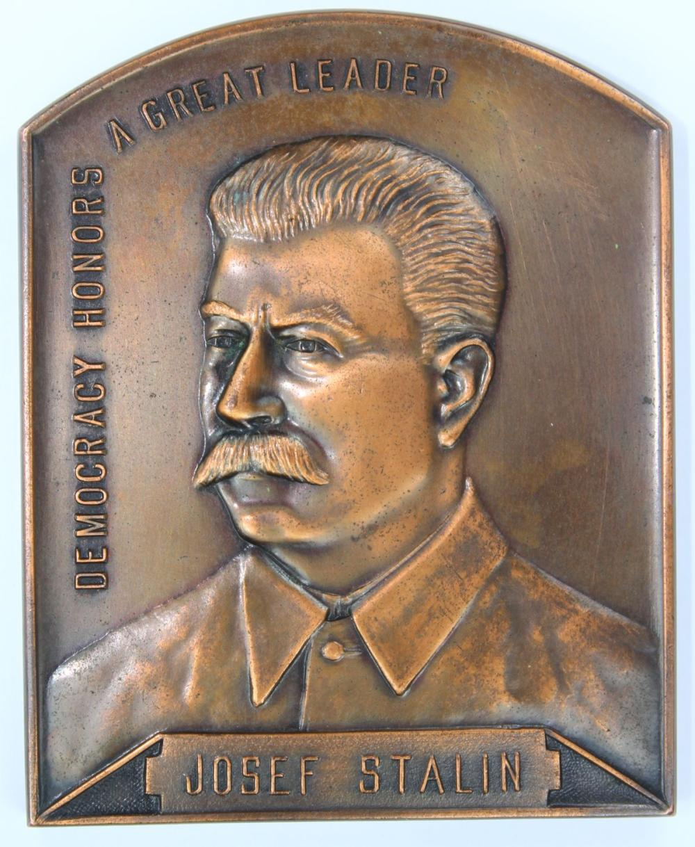 Joseph Stalin Medal by Amors (Sydney) circa 1940 Uncirculated