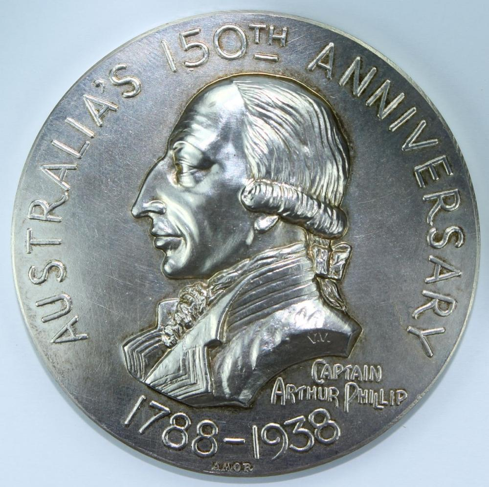 Australia's 1788-1938 150th Anniversary Medal in Sterling (925) Silver
