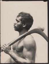"""'Charles Kerry' Black & White Photograph. '1883 / """"GUMBARLEE,"""" CLARENCE R(IVER). WARRIOR. / KERRY. PHOTO : SYDNEY.'"""