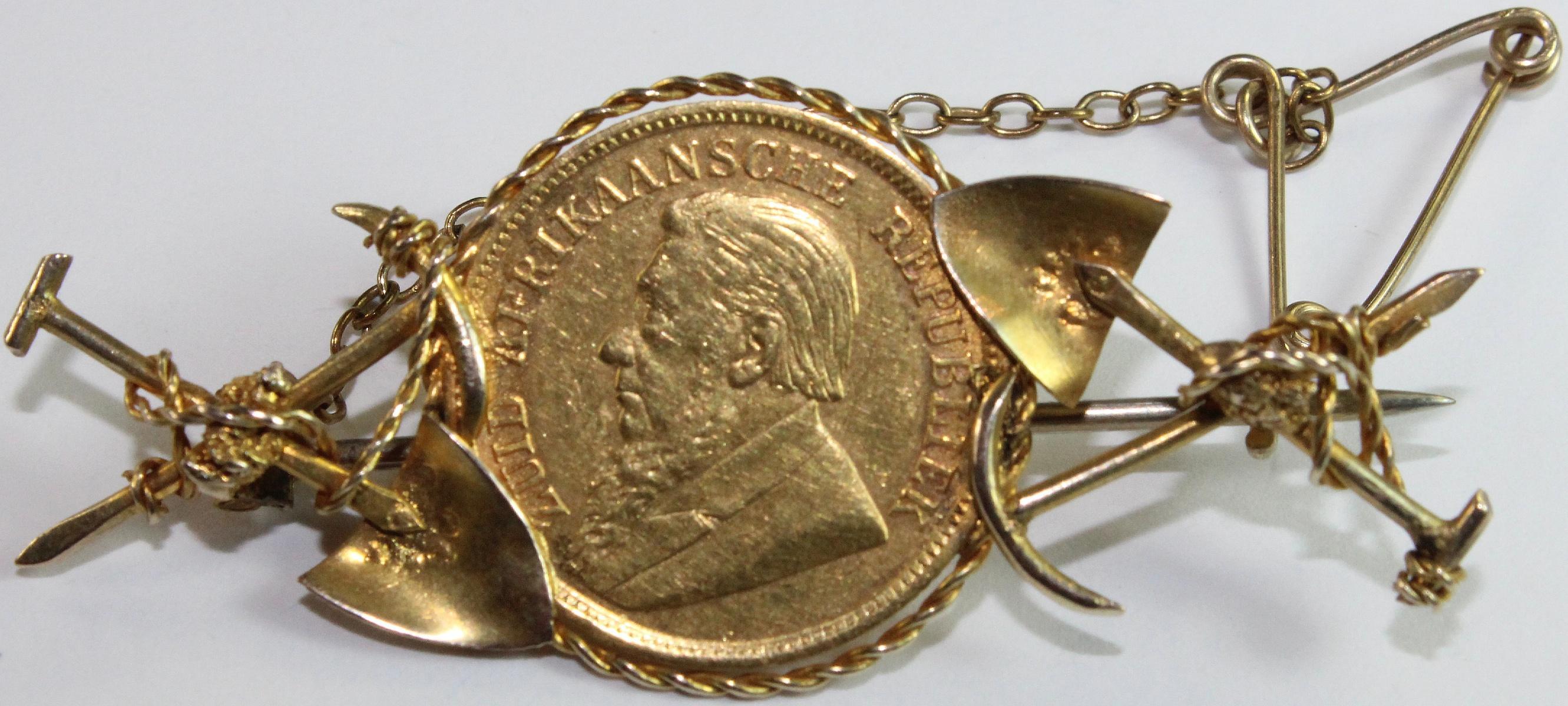 Antique Gold Miner's Brooch circa 1890s