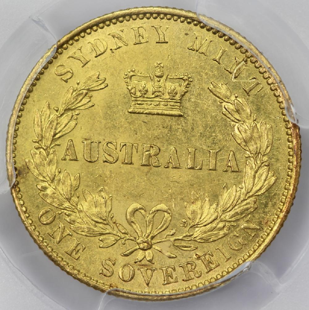 Australia. 1861 'Sydney Mint' Gold (0.916) Sovereign, PCGS MS61 (looks better)