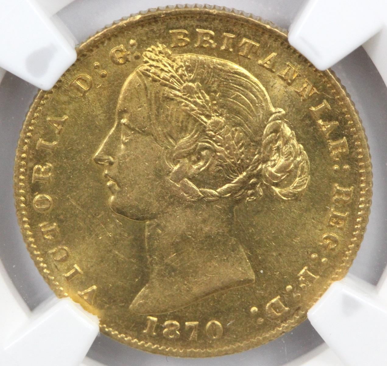 Australia. 1870 'Sydney Mint' Gold (0.916) Sovereign, NGC MS61