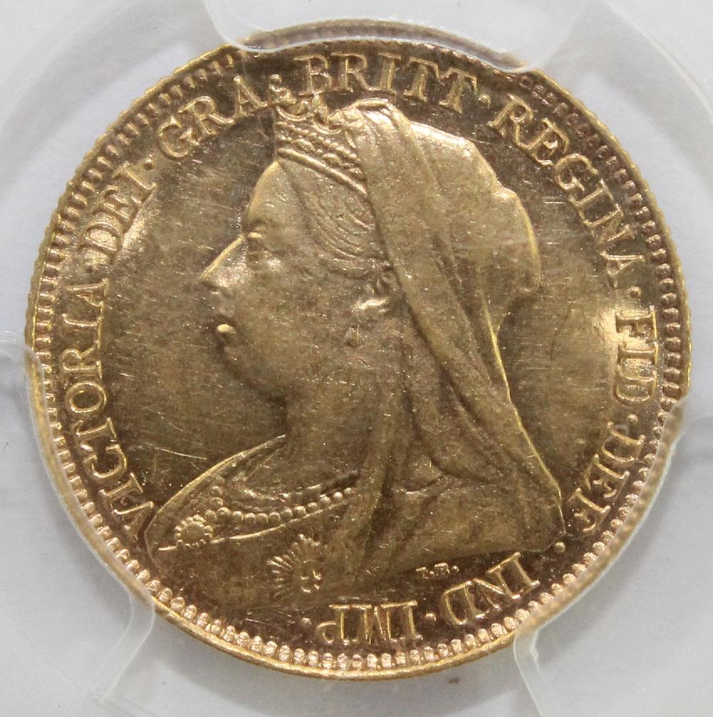 Australia. 1897 S Gold (0.916) Half Sovereign PCGS AU58