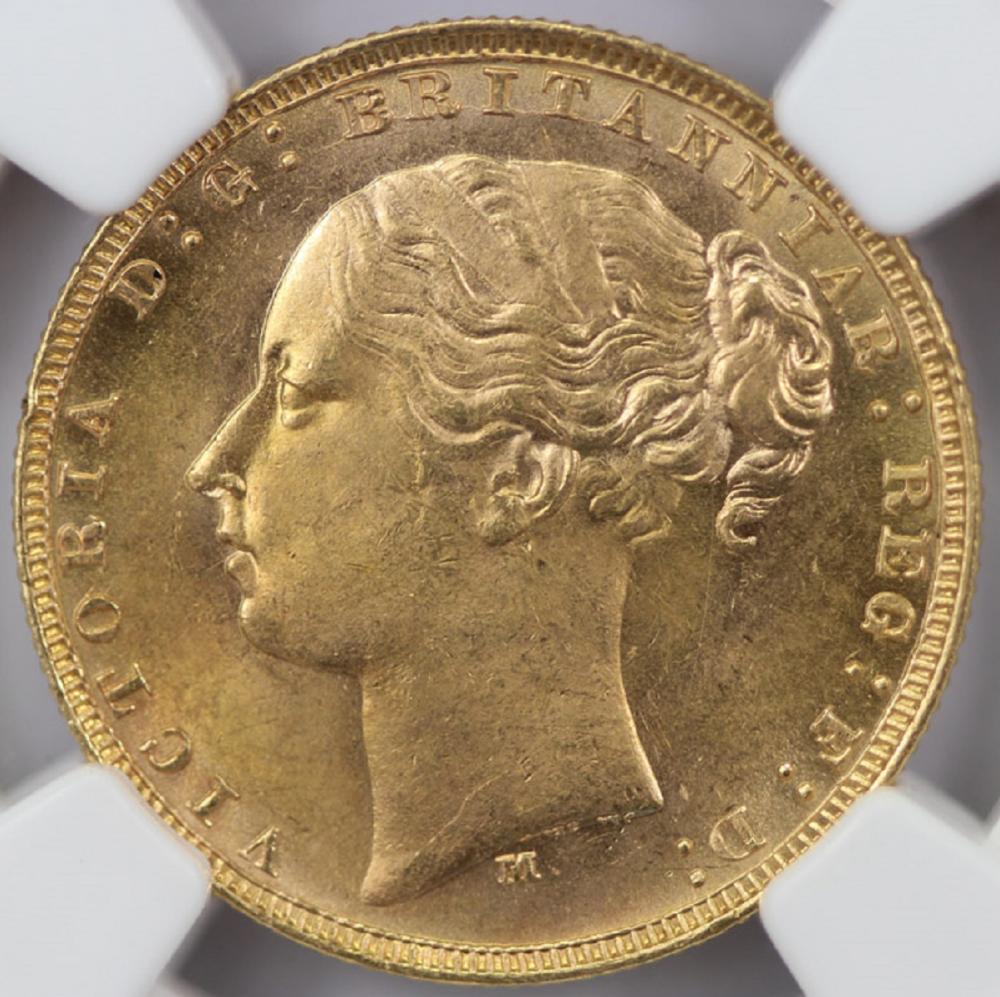 Australia. 1881 M 'St George' Sovereign, NGC MS63 (looks better)