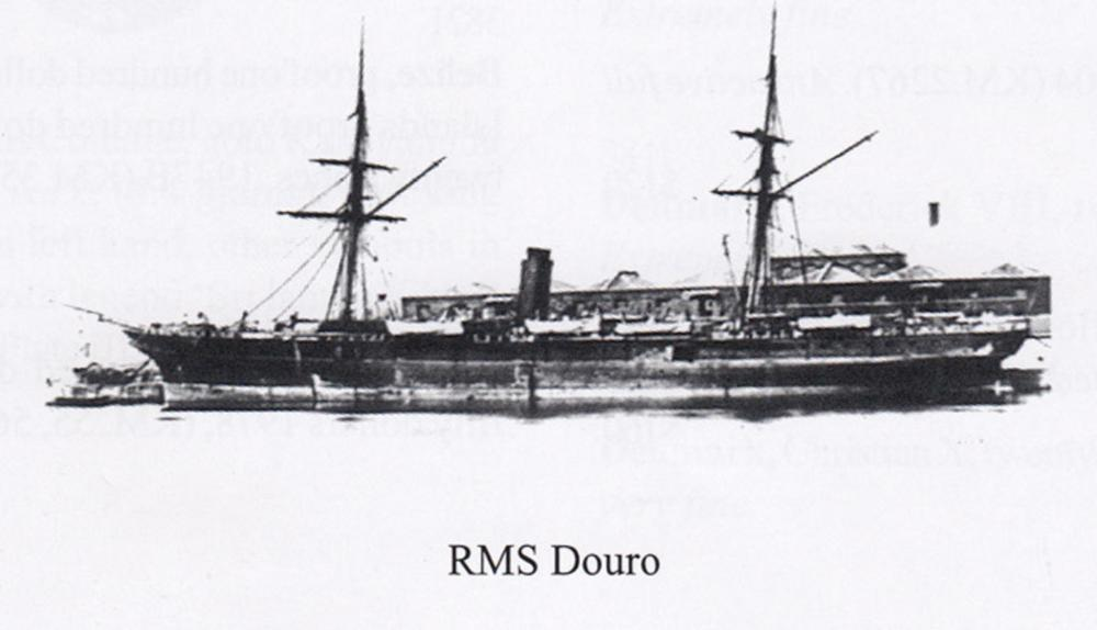 Gold Dust recovered from the ship-wreck of the Royal Mail Steamer 'Douro' contained in a stoppered Ink Bottle No.1699