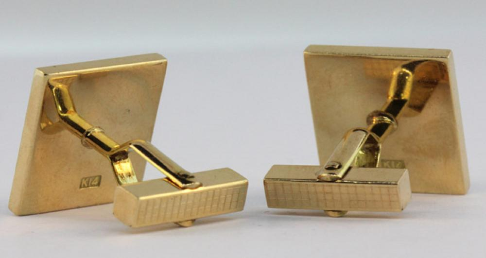 'Parker' Pen brand Cuff Links in 12ct Gold