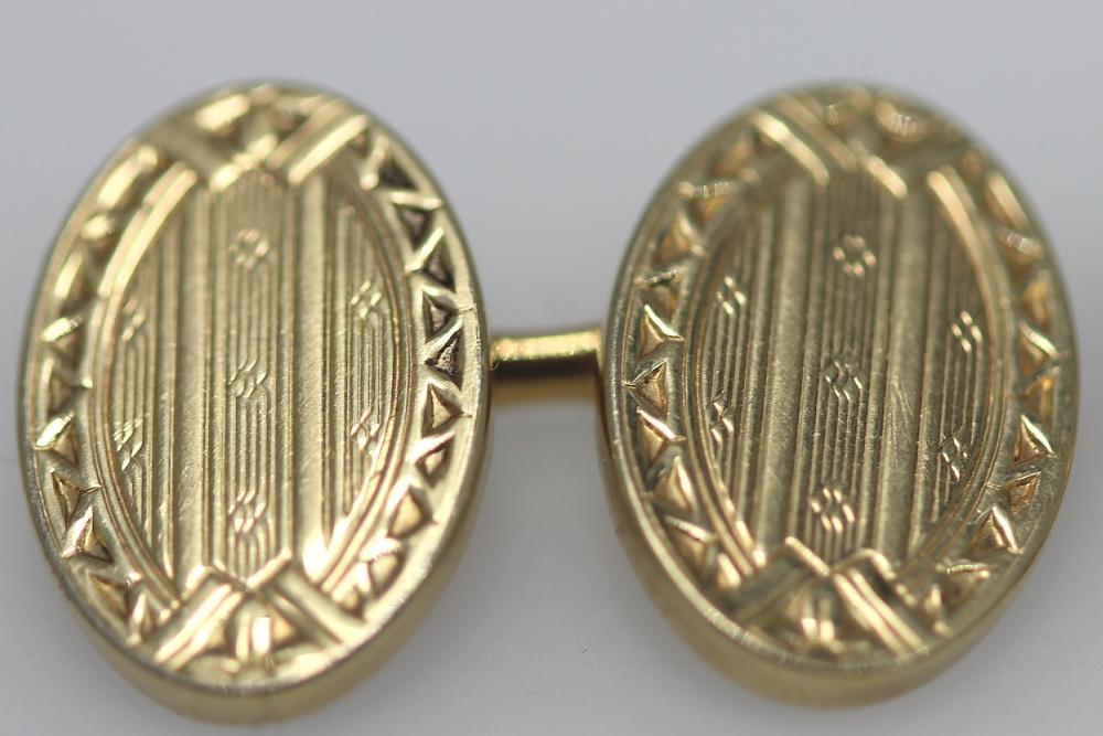 Vintage 'Krementz (USA)' Gold Cufflinks