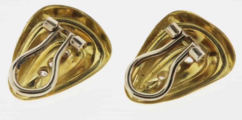 Diamond-set Earrings in 18ct Gold