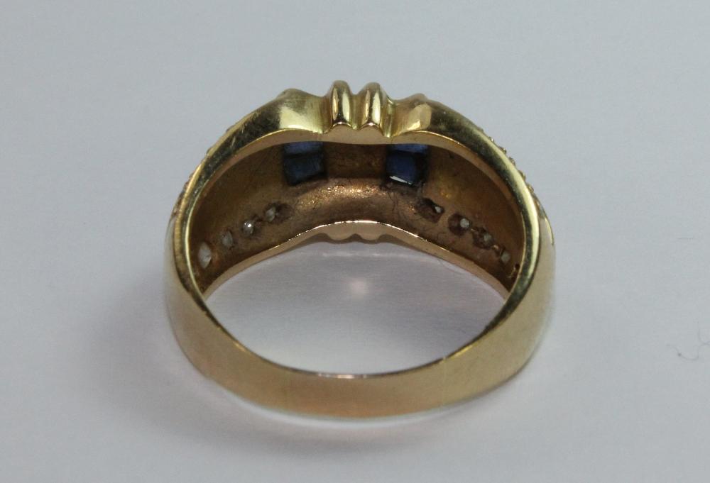 Sapphire & Diamond Ring in 18ct Yellow gold