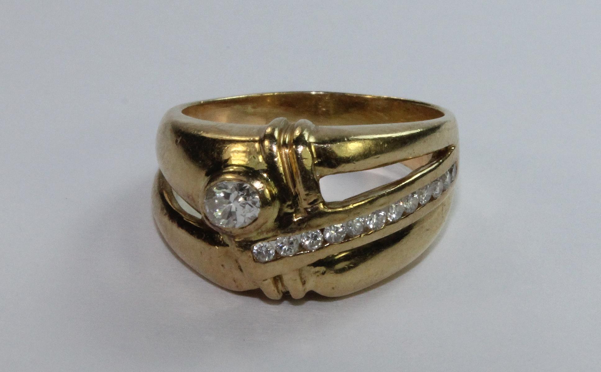 Diamond Ring in 18ct Yellow Gold