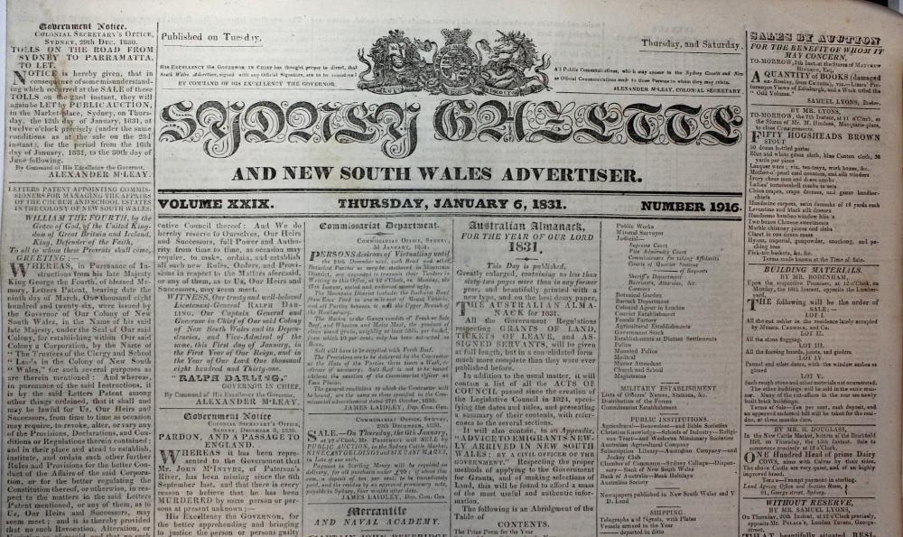 1831 in Australia