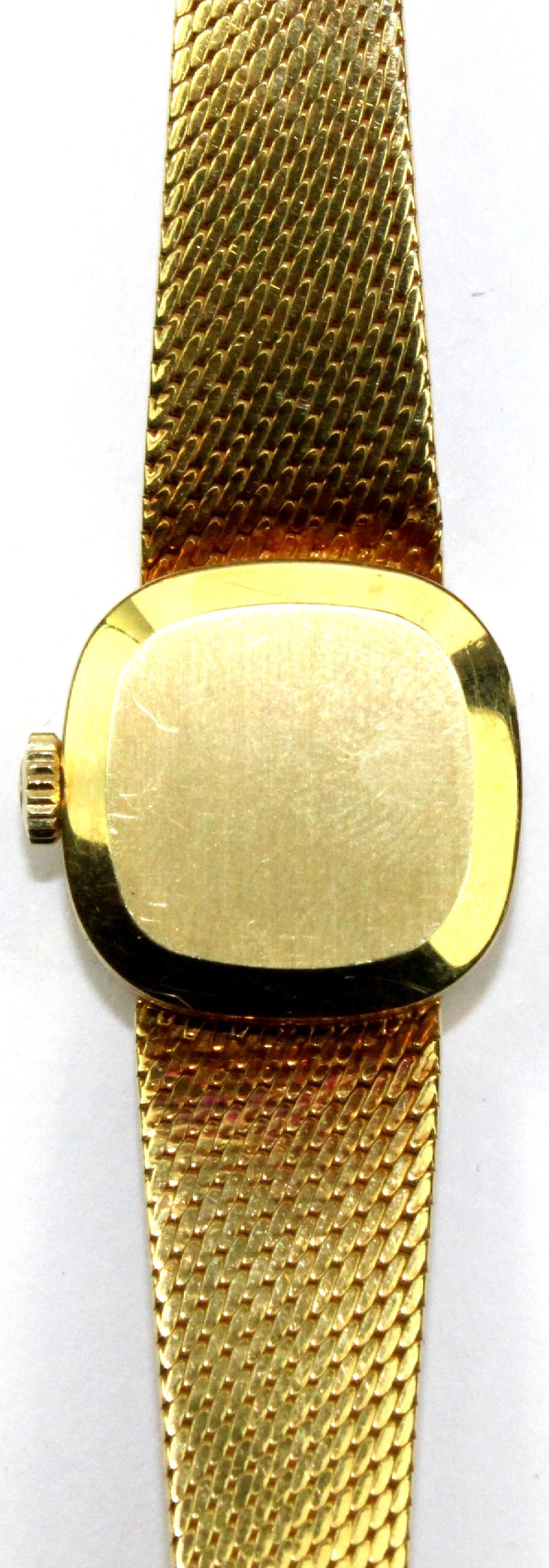 Woman's 'Tissot' 1970s 'Stylist' Watch in 18ct Yellow Gold with attached custom band