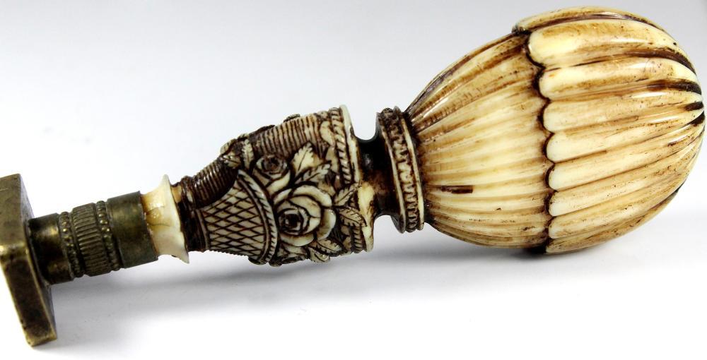 Antique Ivory-handled Seal in the shape of a Balloon