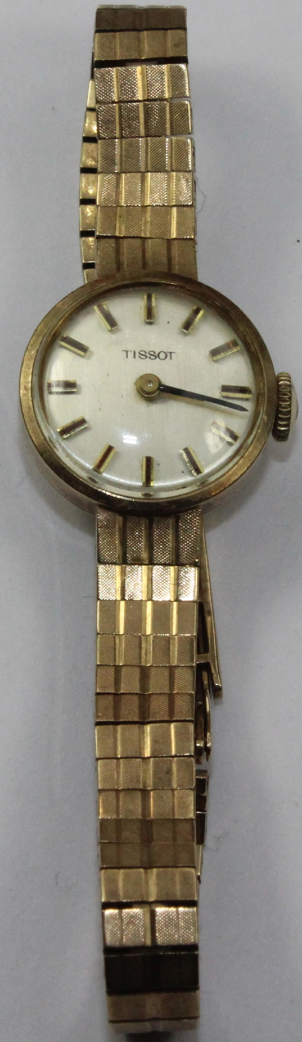 Vintage Woman's 'Tissot' Watch in 9ct Gold with attached custom Band
