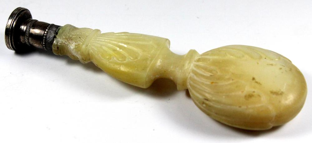 Antique Seal with a carved Mother of Pearl Handle in the shape of a Balloon