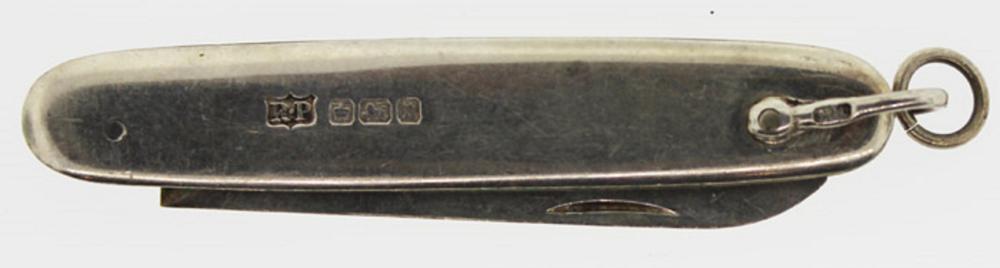 Antique Sterling (0.925) Silver Pocket Fruit or Pen Knife