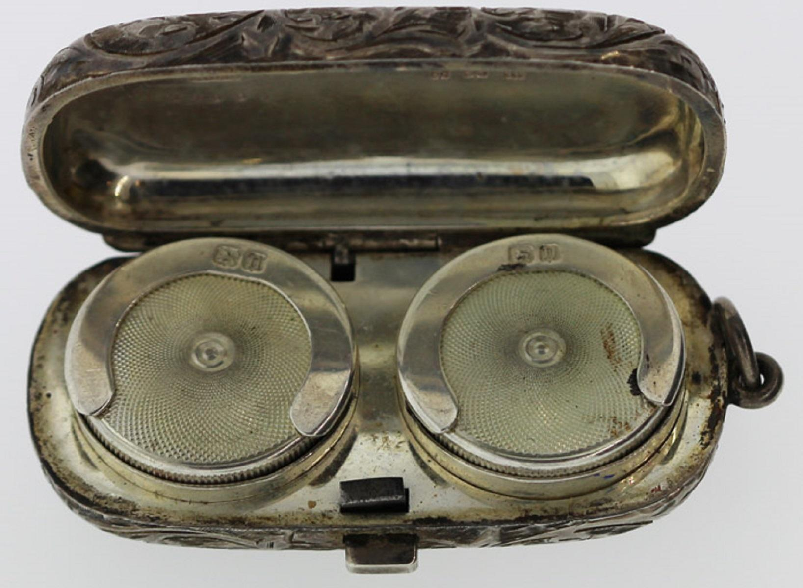 Antique Double Sovereign Holder in Sterling (0.925) Silver
