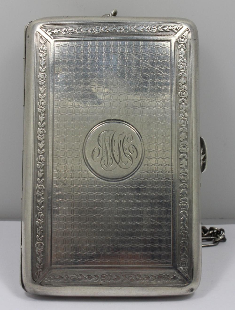 Antique Sterling (0.925) Silver Half Sovereign & Sovereign Compact Case with provision for cigarettes. Stamped Birmingham, 1912