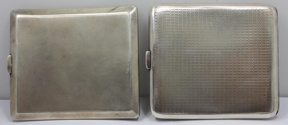 Vintage Sterling (0.925) Silver Cigarette Cases. One Stamped Birmingham, 1920. One Stamped Birmingham, 1945 (2 items)
