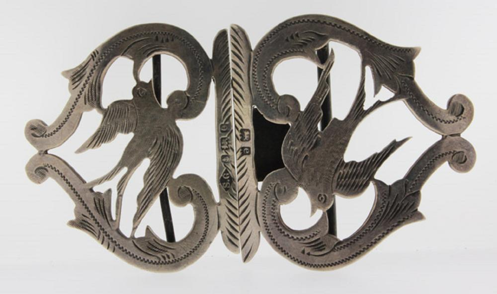 English Silver (0.925) Nurse's Buckle by S. Glass
