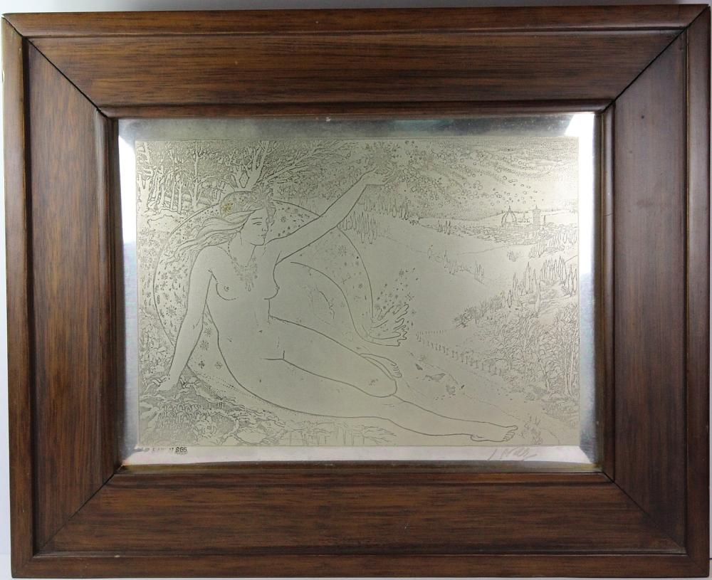 Limited Edition Sterling (0.925) Silver Plaque by 'Jean -Pierre Velly' titled 'Inverno'