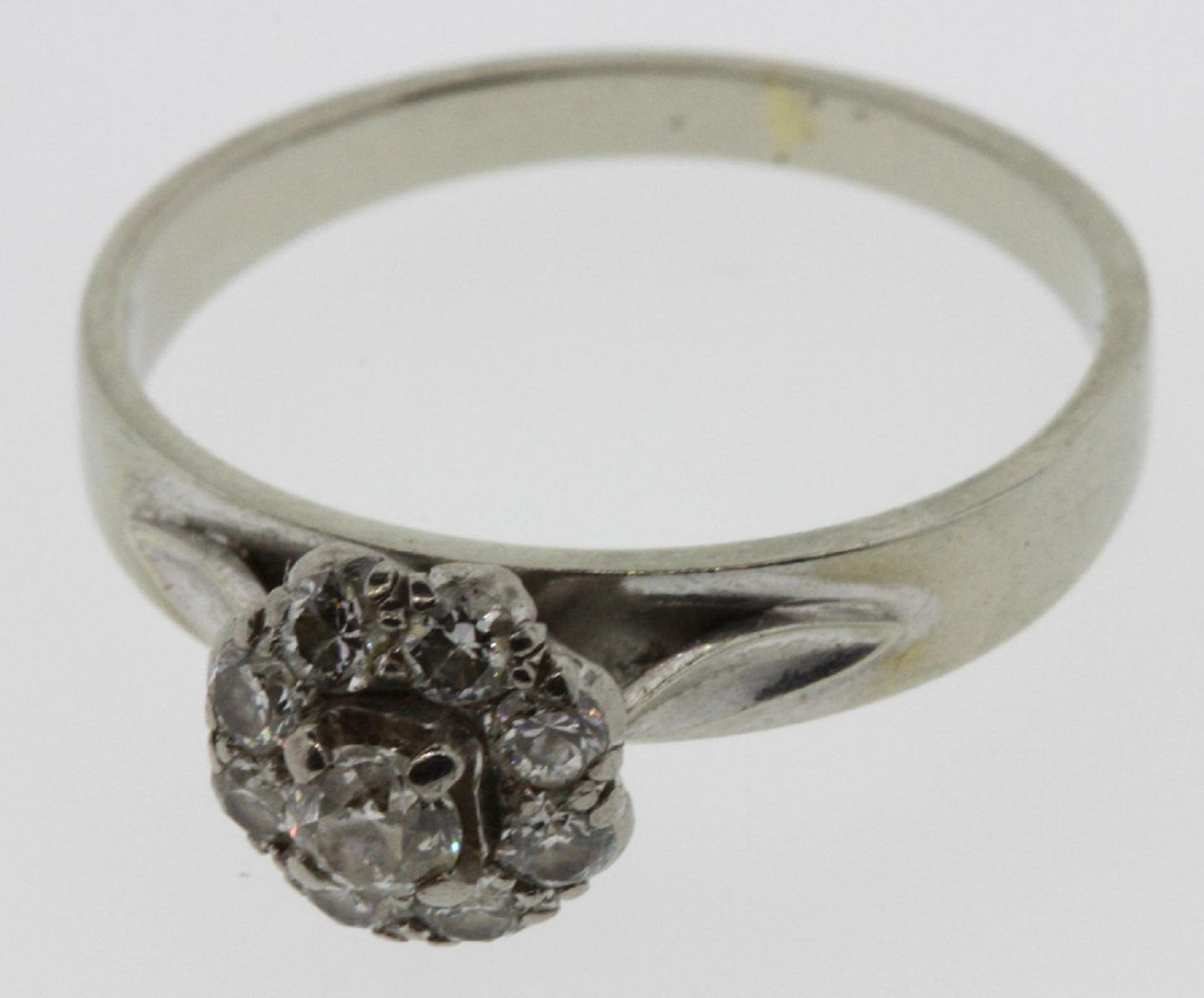 Vintage Old-cut Diamonds in an 18ct White Gold Ring