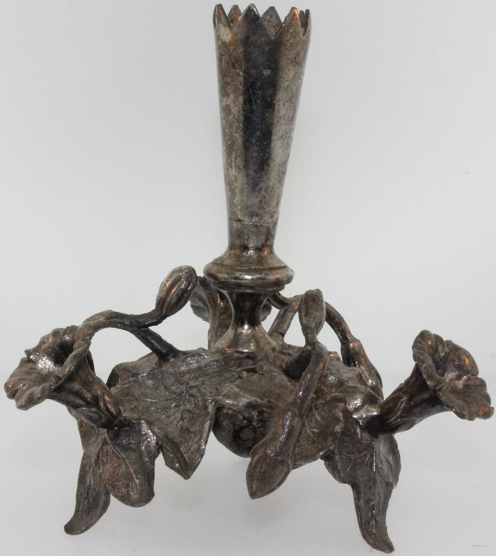 Organic-design Candle Holder in Sterling (0.800) Silver