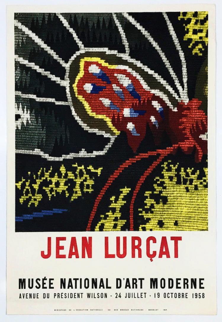 lurcat musee national d moderne 1958 exibition poster