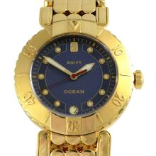 Swiss 18K Yellow Gold Ocean Model Wrist Watch