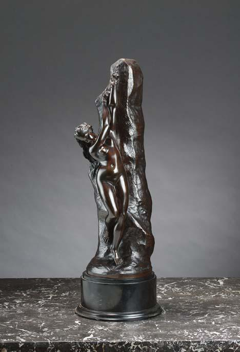 c - JACQUES ANTOINE COINCHON, 1814-1881, A BRONZE FIGURE OF ANDROMEDA, FRENCH SCHOOL MID 19TH