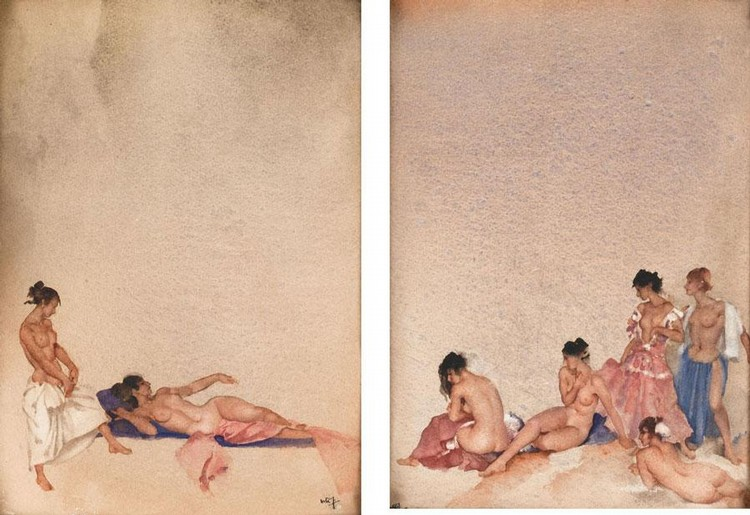 SIR WILLIAM RUSSELL FLINT, R.A., P.R.W.S. 1880-1969