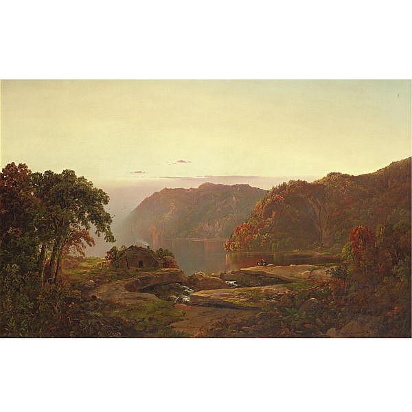 William Louis Sonntag 1822-1900 , Autumn Landscape oil on canvas