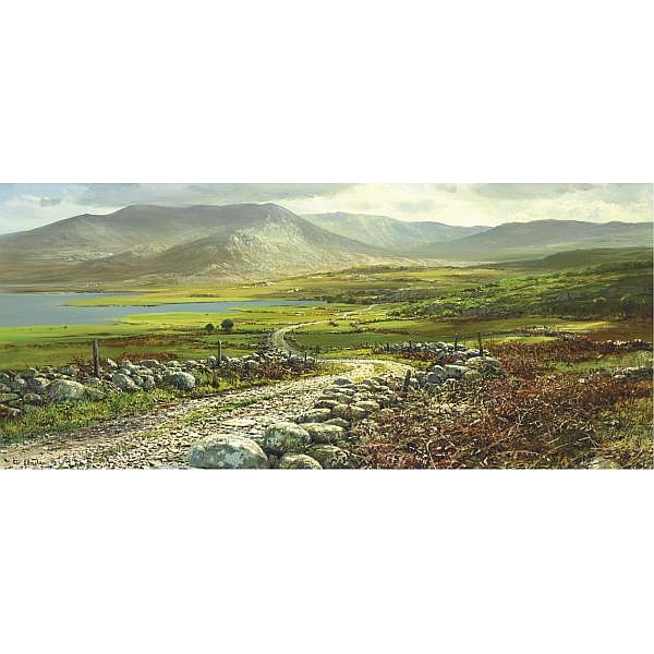 Peter Ellenshaw B. 1913 , Road near Waterville oil on canvas