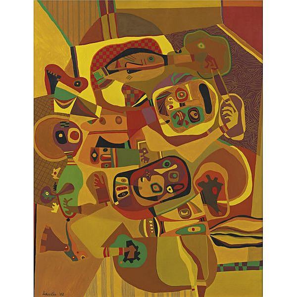 Steve Wheeler 1912-1992 , The Gold Cord oil on canvas