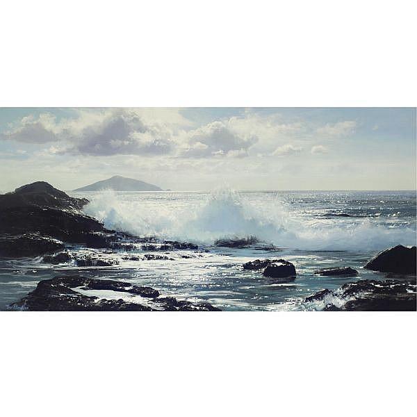 Peter Ellenshaw B. 1913 , Scariff Island oil on canvas