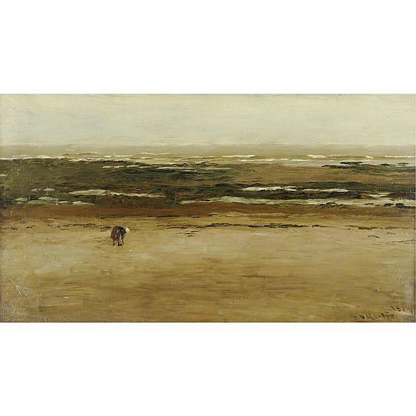 Homer Dodge Martin 1836-1897 , Low Tide, Villerville oil on canvas
