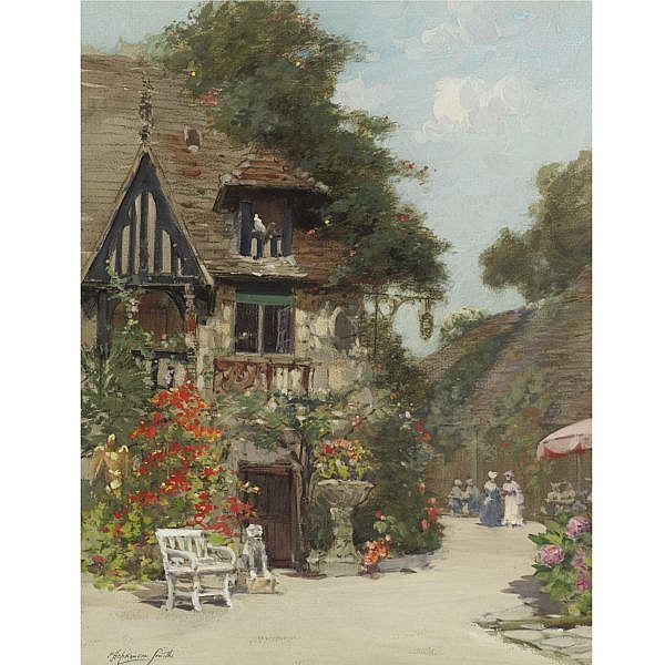 Francis Hopkinson Smith 1838-1915 , The Inn of William the Conqueror watercolor with traces of charcoal on paper