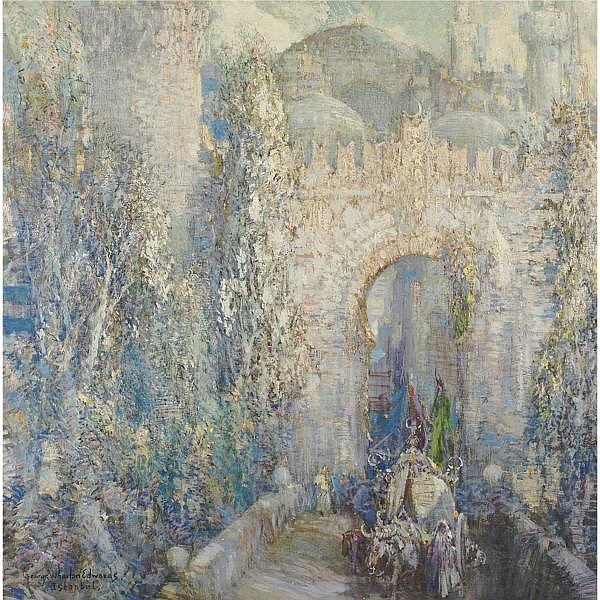George Wharton Edwards 1869-1950 , Gate of the Conqueror, Constantinople oil on canvas