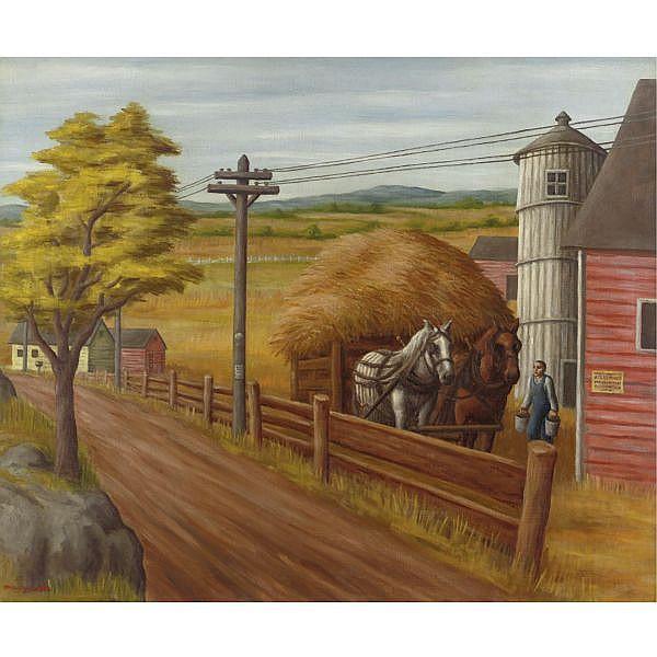 Paul Meltsner 1905-1966 , September Morn' oil on canvas